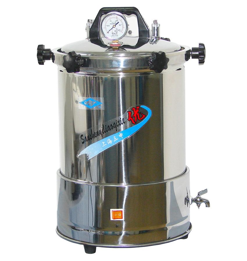 上海三申YX-280A手提式灭菌器(坐式电热防干烧15L)停产