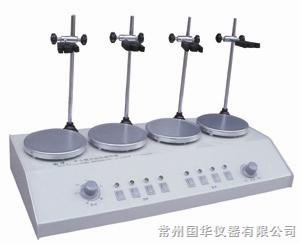 常州国华HJ-4A多头磁力搅拌器 数显控温 4头