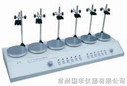 常州国华HJ-6A多头磁力加热搅拌器 数显控温 6头