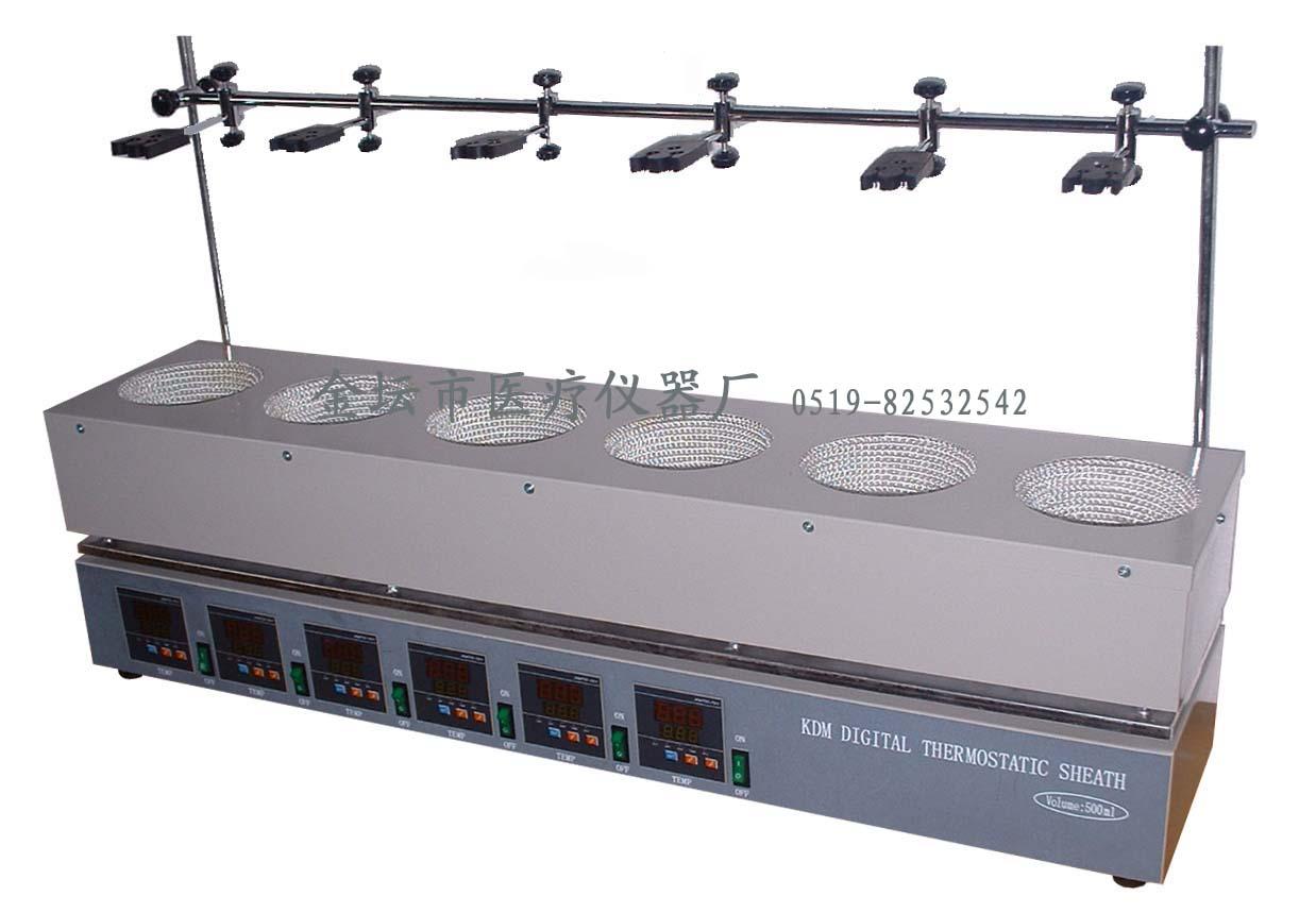 江苏金坛KDM-A六联数显恒温电热套(500W×6)