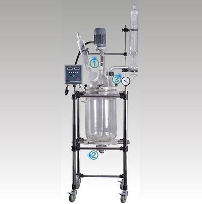 巩义予华YSF-80L双层玻璃反应釜(标准型)