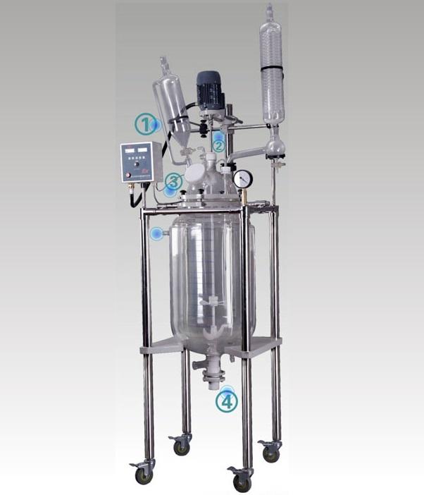 巩义予华YSFT-10L双层玻璃反应釜(托盘型)