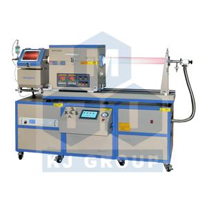 合肥科晶OTF-1200X-80-II-4CV-PE-SL滑动式双温区PECVD系统